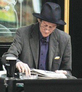 Alex Higgins in 2008, two years before his death