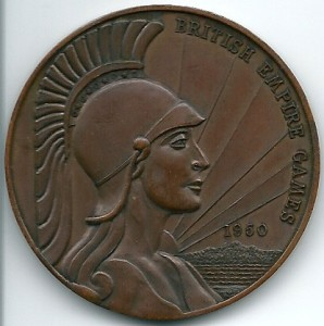 Medal from the 1950 British Empire Games, held in Auckland