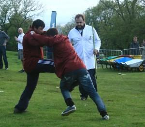Shin-kicking by James Polley