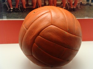 Close-up_of_the_ball_from_the_1966_World_Cup_Final_(3302542219)